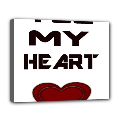 You My Heart Deluxe Canvas 20  X 16  (framed)