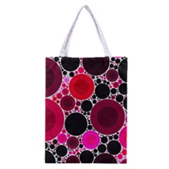 Retro Polka Dot  All Over Print Classic Tote Bag
