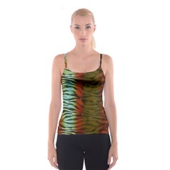 Earthy Zebra All Over Print Spaghetti Strap Top by OCDesignss