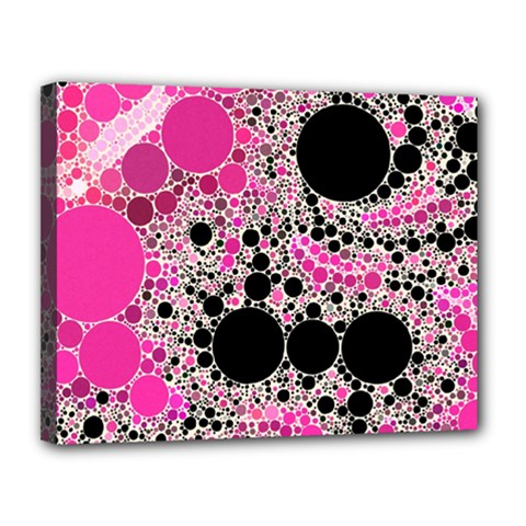Pink Cotton Kandy  Canvas 14  X 11  (framed) by OCDesignss