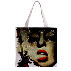 Woman With Attitude Grunge  All Over Print Grocery Tote Bag