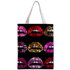 Bling Lips  All Over Print Classic Tote Bag by OCDesignss