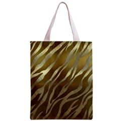 Metal Gold Zebra  All Over Print Classic Tote Bag by OCDesignss