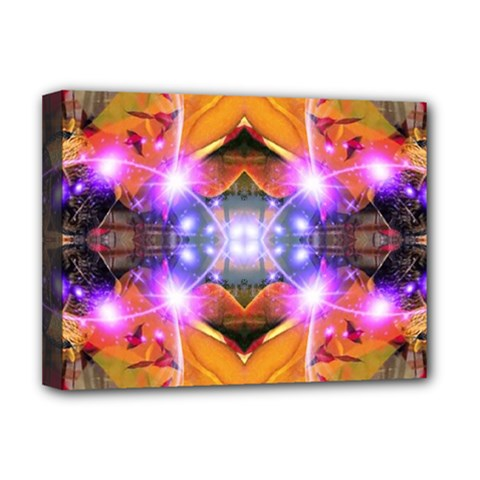 Abstract Flower Deluxe Canvas 16  X 12  (framed)  by icarusismartdesigns