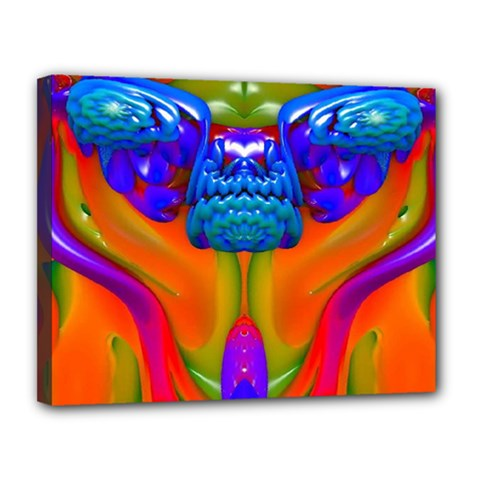 Lava Creature Canvas 14  X 11  (framed) by icarusismartdesigns