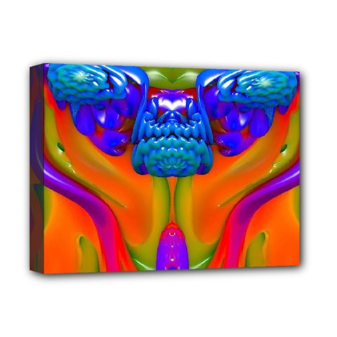 Lava Creature Deluxe Canvas 16  X 12  (framed)  by icarusismartdesigns