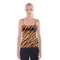 Tiger Print  All Over Print Spaghetti Strap Top by OCDesignss