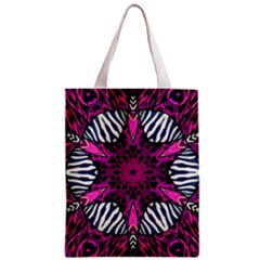 Crazy Hot Pink Zebra  All Over Print Classic Tote Bag by OCDesignss
