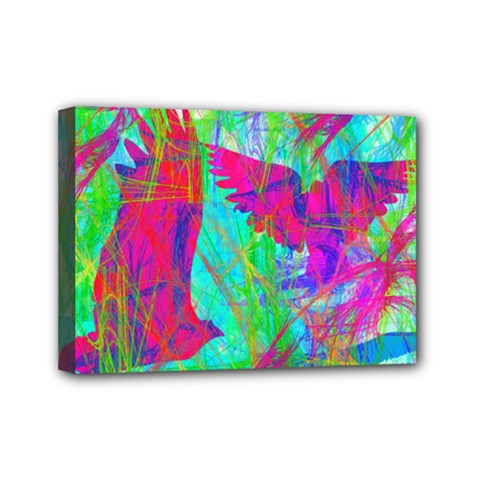 Birds In Flight Mini Canvas 7  X 5  (framed) by icarusismartdesigns