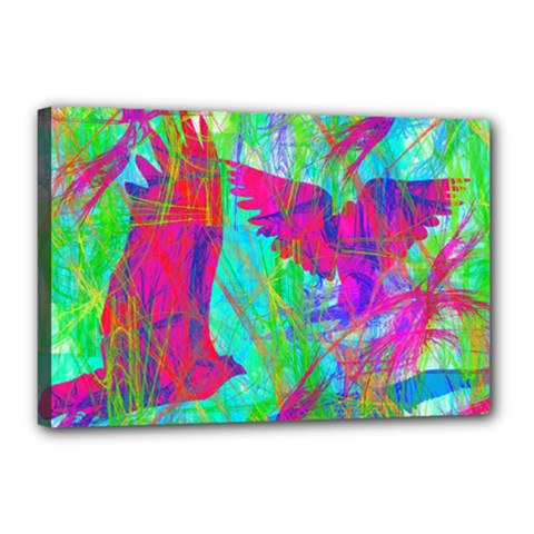 Birds In Flight Canvas 18  X 12  (framed) by icarusismartdesigns