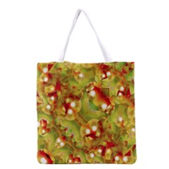 Christmas Print Motif All Over Print Grocery Tote Bag by dflcprints