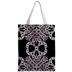 Metal Texture Silver Skulls  All Over Print Classic Tote Bag