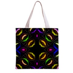 Sassy Neon Lips  All Over Print Grocery Tote Bag by OCDesignss
