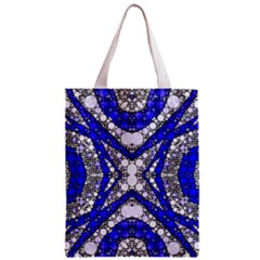 Flashy Bling Blue Silver  All Over Print Classic Tote Bag