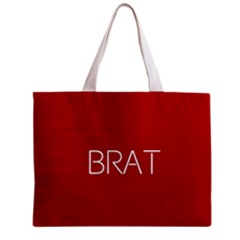 Brat Red All Over Print Tiny Tote Bag by OCDesignss