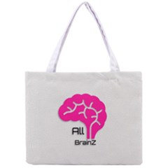 All Brains Leather  All Over Print Tiny Tote Bag by OCDesignss