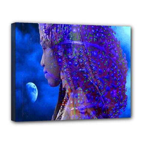 Moon Shadow Canvas 14  X 11  (framed)