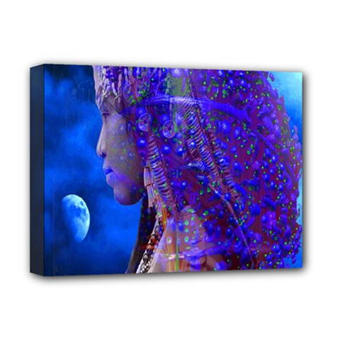 Moon Shadow Deluxe Canvas 16  X 12  (framed)  by icarusismartdesigns