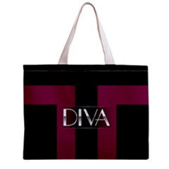 Pink Diva  All Over Print Tiny Tote Bag by OCDesignss