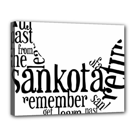 Sankofashirt Canvas 14  X 11  (framed)