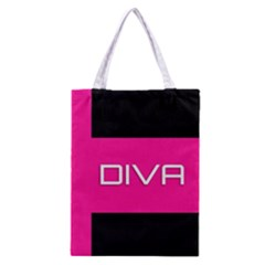Diva Hot Pink All Over Print Classic Tote Bag by OCDesignss
