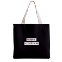 Vaping Kicks Ash Blk&wht  All Over Print Grocery Tote Bag