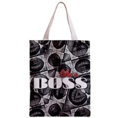 Like A Boss Blk&wht All Over Print Classic Tote Bag