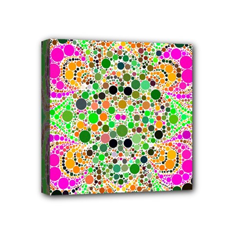 Florescent Abstract  Mini Canvas 4  X 4  (framed) by OCDesignss