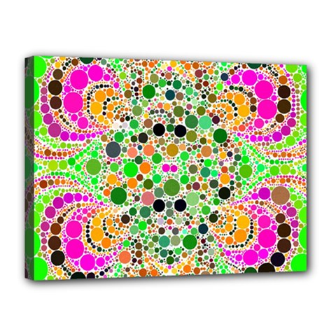 Florescent Abstract  Canvas 16  X 12  (framed) by OCDesignss