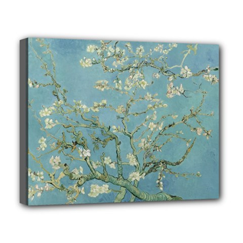 Vincent Van Gogh, Almond Blossom Deluxe Canvas 20  X 16  (framed) by Oldmasters
