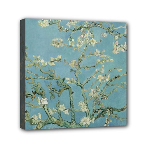 Vincent Van Gogh, Almond Blossom Mini Canvas 6  X 6  (framed) by Oldmasters