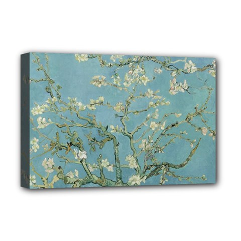 Vincent Van Gogh, Almond Blossom Deluxe Canvas 18  X 12  (framed) by Oldmasters