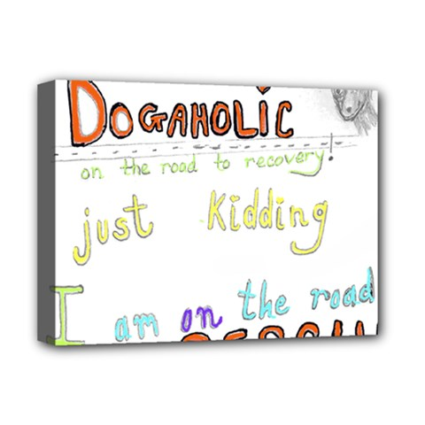 D0gaholic Deluxe Canvas 16  X 12  (framed)  by Contest1918526