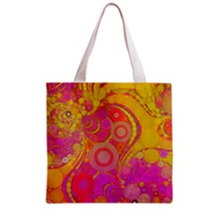 Super Bright Abstract All Over Print Grocery Tote Bag