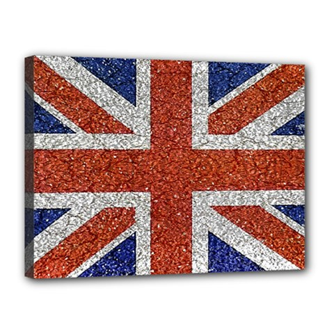England Flag Grunge Style Print Canvas 16  X 12  (framed) by dflcprints