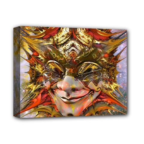 Star Clown Deluxe Canvas 14  X 11  (framed) by icarusismartdesigns