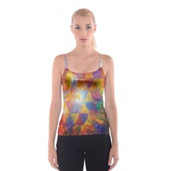 Space Design All Over Print Spaghetti Strap Top