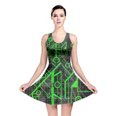 Tech All Over Print Reversible Skater Dress by UniqueandCustomGifts
