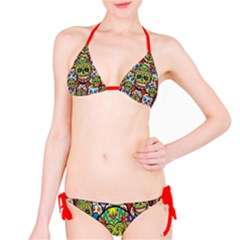 Sugar Skulls Bikini by UniqueandCustomGifts
