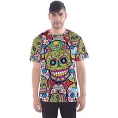 Sugar Skulls All Over Print Sport T Shirt (men) by UniqueandCustomGifts