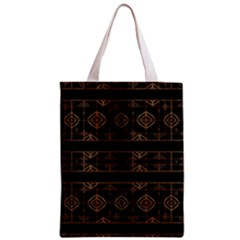 Dark Geometric Abstract Pattern All Over Print Classic Tote Bag by dflcprints