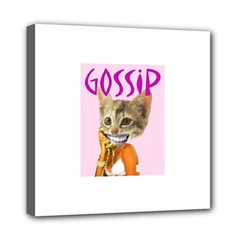 Gossip Mini Canvas 8  X 8  (framed) by AnimalsLol
