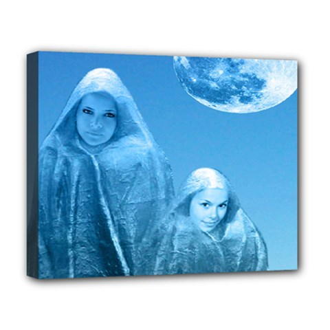 Full Moon Rising Deluxe Canvas 20  X 16  (framed) by icarusismartdesigns