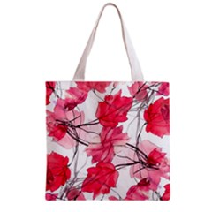 Floral Print Swirls Decorative Design Grocery Tote Bag