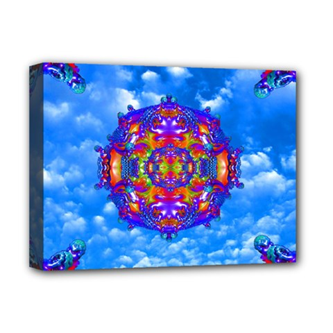 Sky Horizon Deluxe Canvas 16  X 12  (framed)  by icarusismartdesigns