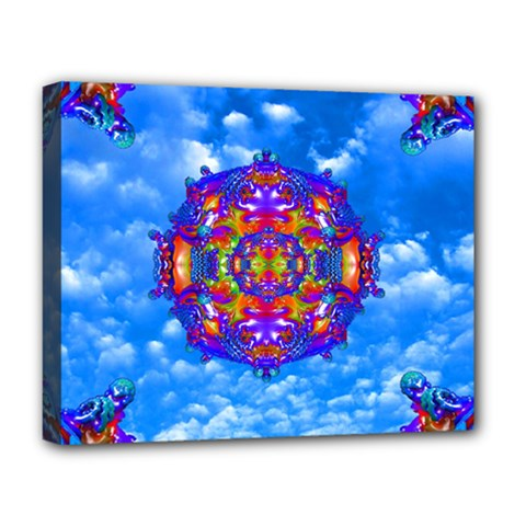 Sky Horizon Deluxe Canvas 20  X 16  (framed) by icarusismartdesigns