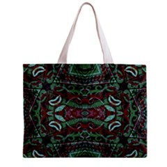 Tribal Ornament Pattern In Red And Green Colors Tiny Tote Bag by dflcprints