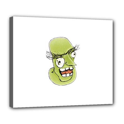 Mad Monster Man With Evil Expression Deluxe Canvas 24  X 20  (framed) by dflcprints