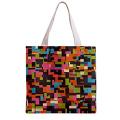 Colorful Pixels Grocery Tote Bag