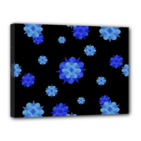 Floral Print Modern Style Pattern  Canvas 16  X 12  (framed) by dflcprints
